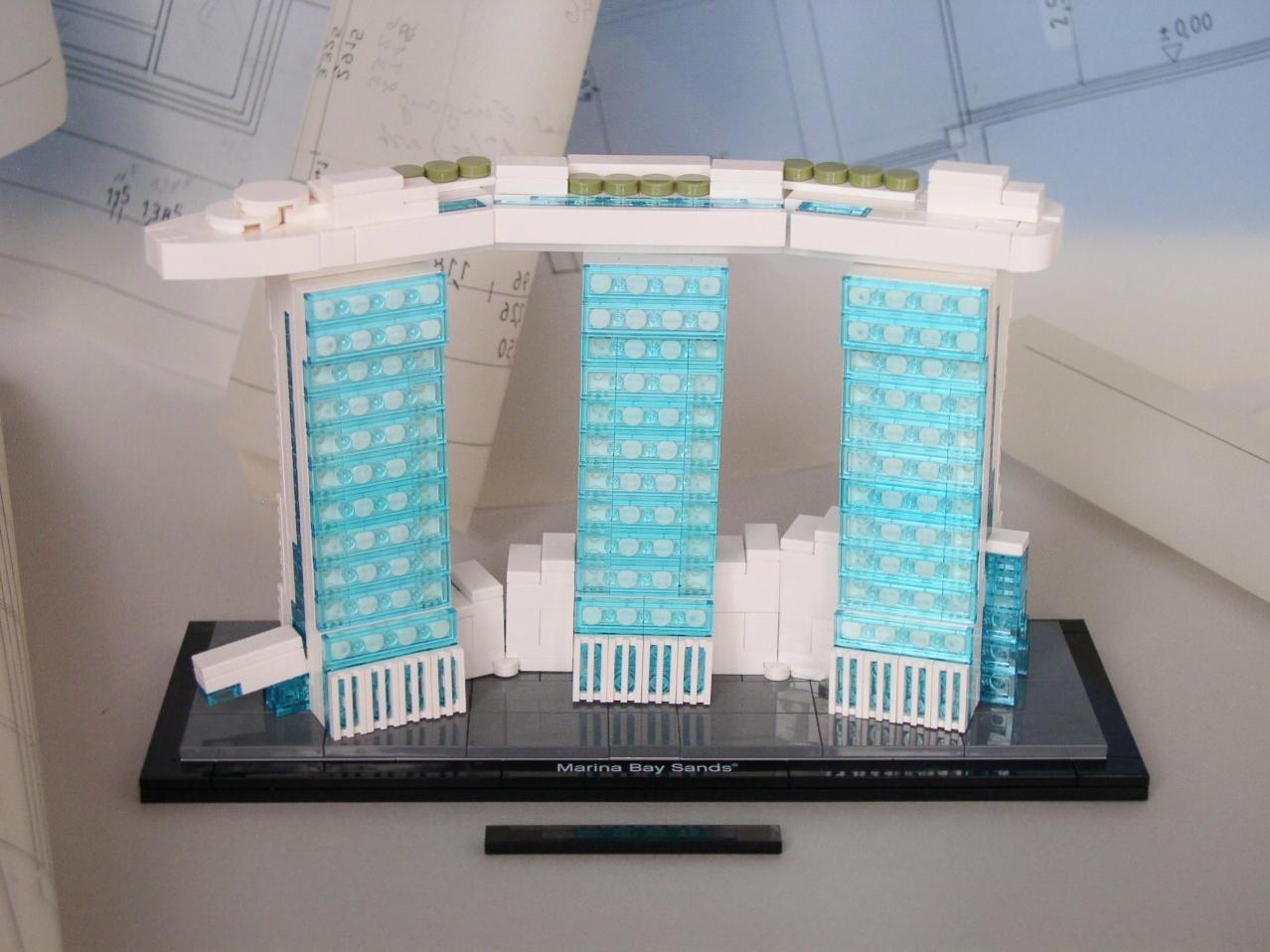 Lego 21021 architecture marina bay sands original mit for Marina bay sands architecture concept